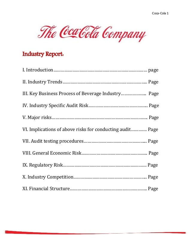 an analysis of the coca cola company Coca-cola is the world's largest soft-drink company which manufactures and markets non-alcoholic beverage concentrates and syrups besides the well known coca-cola.