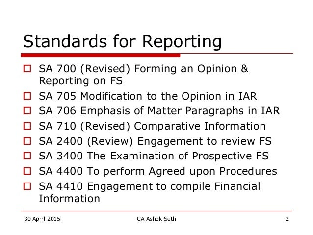 A report of the ica audit