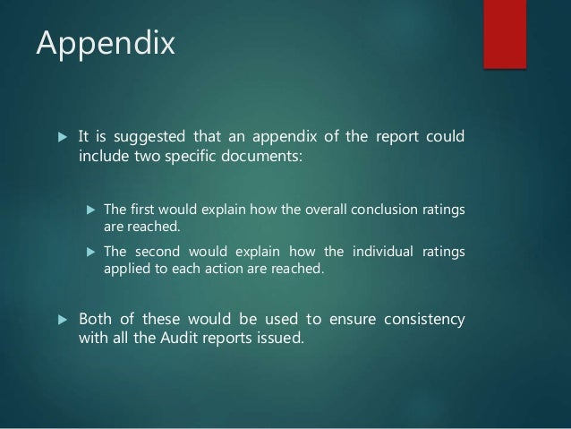 Beginning the Audit Report