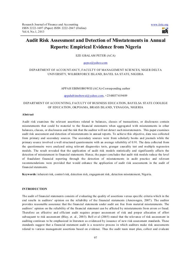 Research Journal of Finance and Accounting                                                               www.iiste.orgISSN...