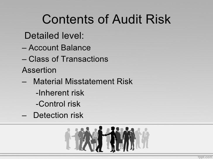 audit risk model formula