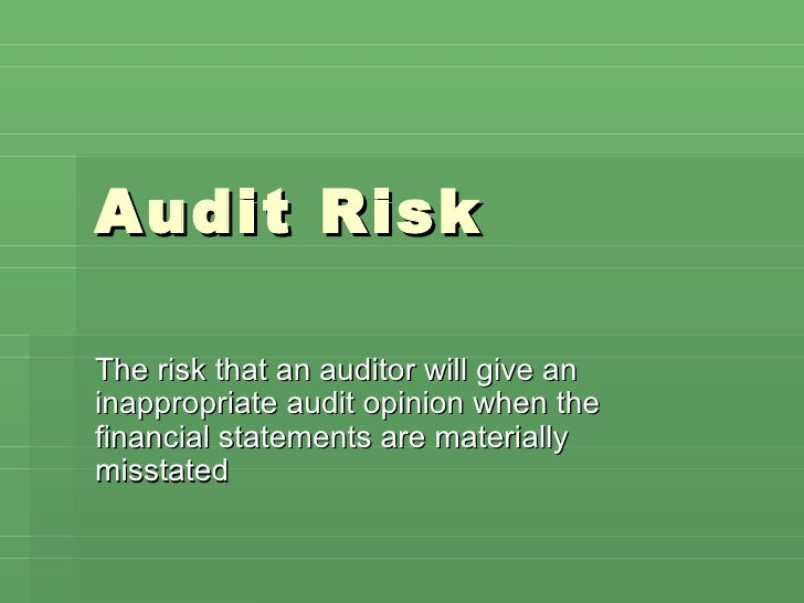 Audit+risk+risk+chapt+7+&+8