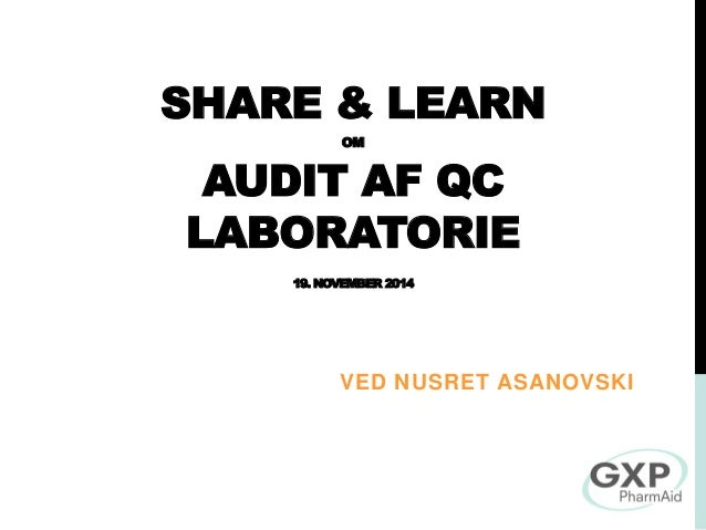 Audits af QC lab