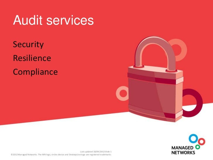Audit services Security Resilience Compliance                                                                   Last updat...