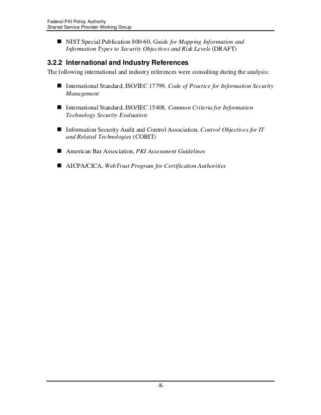 Audit Standards For Federal Pki Certification Authorities Using Pki