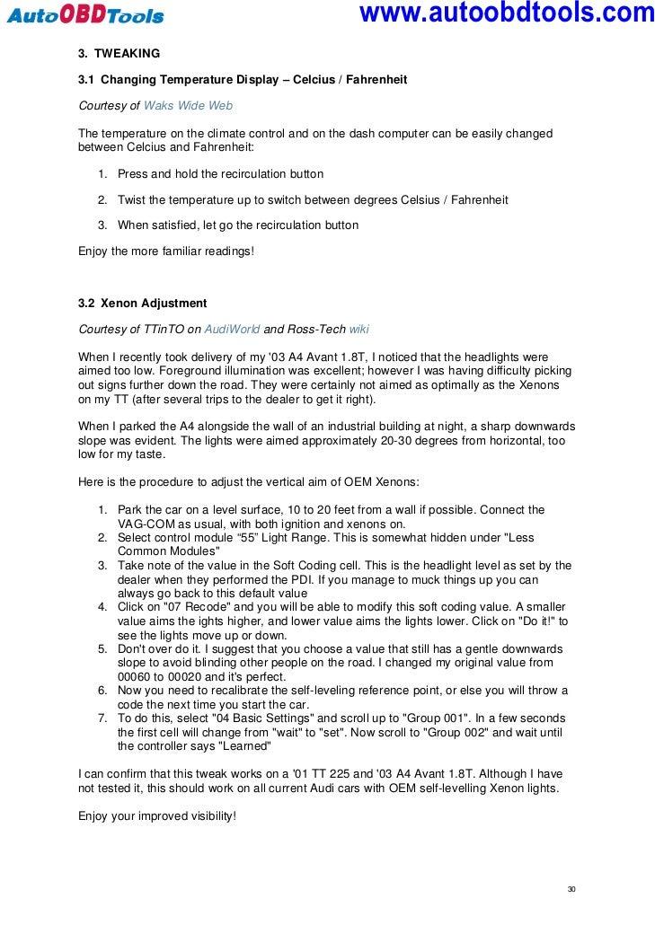 Audi tt tweaker user guide manual