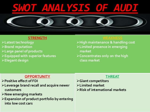 Swot analysis audi essay example