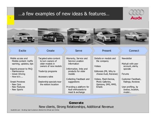 Car Manufacturer Website Strategy AudiUSAcom - Audi usa models