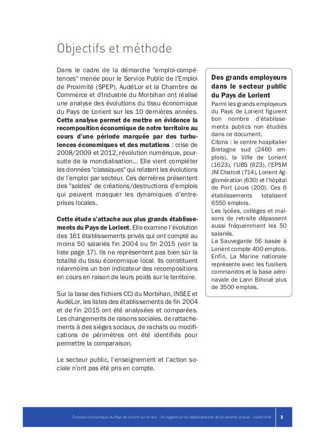 Volution conomique du pays de lorient sur 10 ans un regard sur les - Chambre de commerce morbihan ...