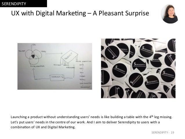 UXwithDigitalMarke=ng–APleasantSurprise Launchingaproductwithoutunderstandingusers'needsislikebuildinga...