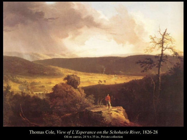 thomas cole essay on american scenery 1836 Landscape painting with thomas cole essay landscape painting was an extremely important time during the middle of the nineteenth century one of the leading practitioners of landscape painters in america was thomas cole.