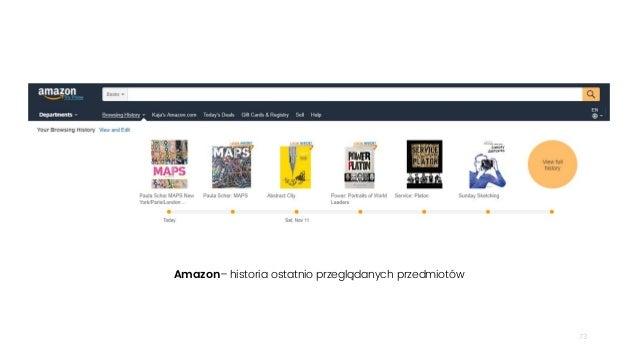 73 Amazon– historia ostatnio przeglądanych przedmiotów