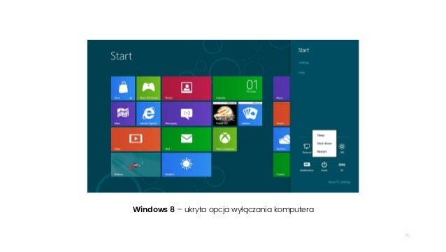 75 Windows 8 – ukryta opcja wyłączania komputera
