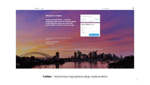 82 Twitter– Wyróżniona najczęstsza akcja użytkowników