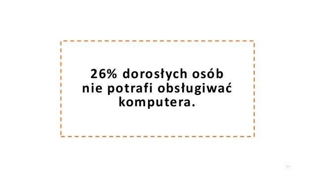 94 26% dorosłych osób nie potrafi obsługiwać komputera.