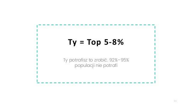 96 Ty = Top 5-8% Ty potrafisz to zrobić. 92%–95% populacji nie potrafi