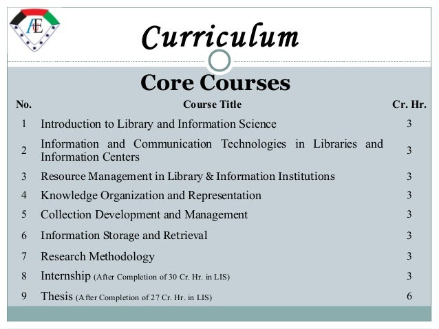 Research thesis in library and information science