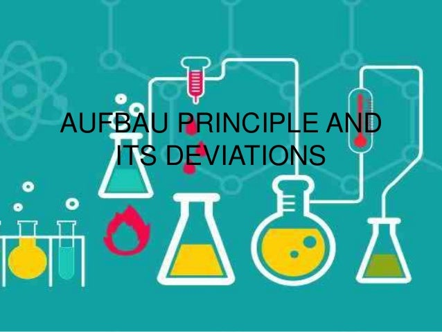 AUFBAU PRINCIPLE AND ITS DEVIATIONS