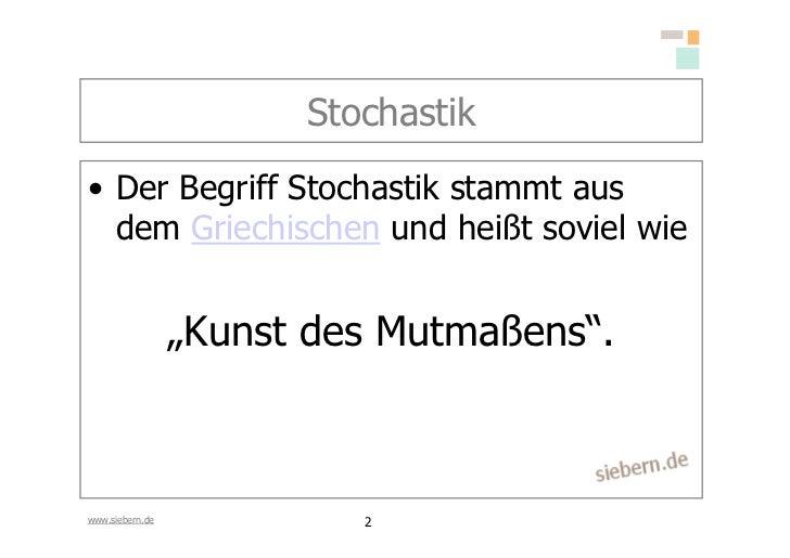 Stochastik Grundlagen Slide 2
