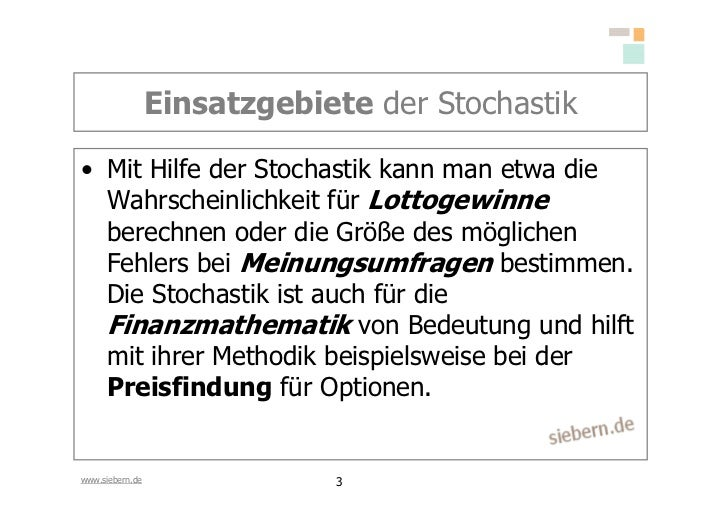 Stochastik Grundlagen Slide 3
