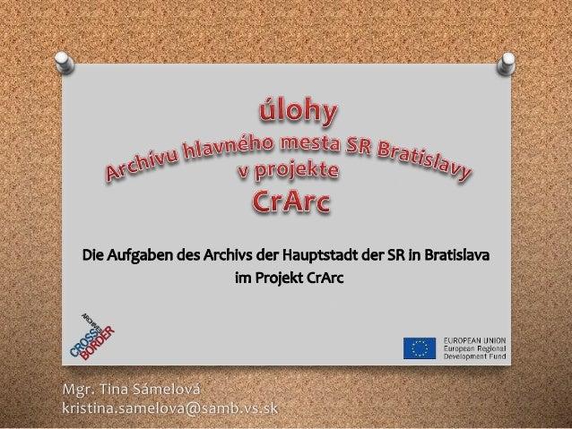 """Archív mesta Bratislavy"" skratka ""Stadtarchiv in Bratislava"" Abkürzung"