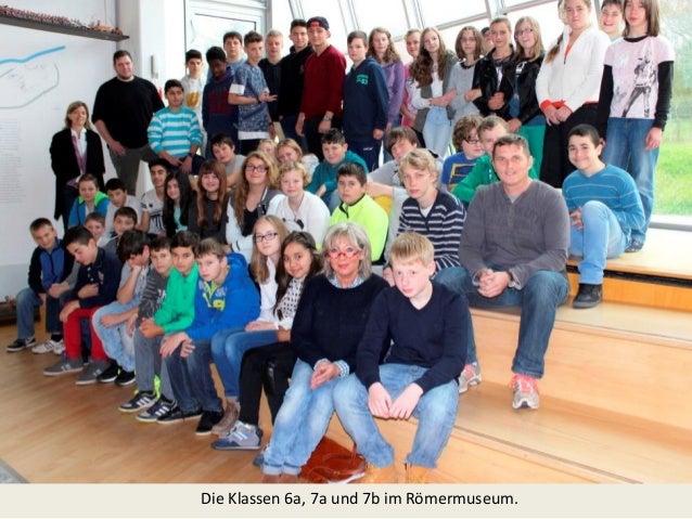 Die Klassen 6a, 7a und 7b im Römermuseum.