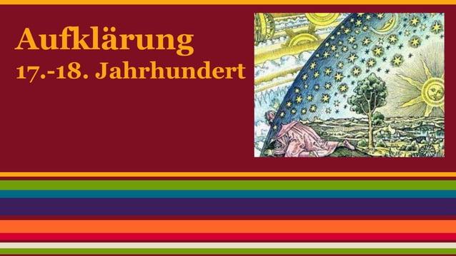 Aufklärung  17.-18. Jahrhundert