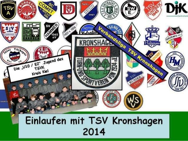 Einlaufen TSV Kronshagen