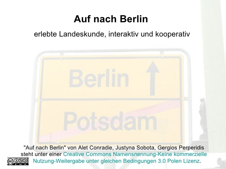 """Auf nach Berlin   erlebte Landeskunde, interaktiv und kooperativ """"Auf nach Berlin"""" von Alet Conradie, Justyna So..."""