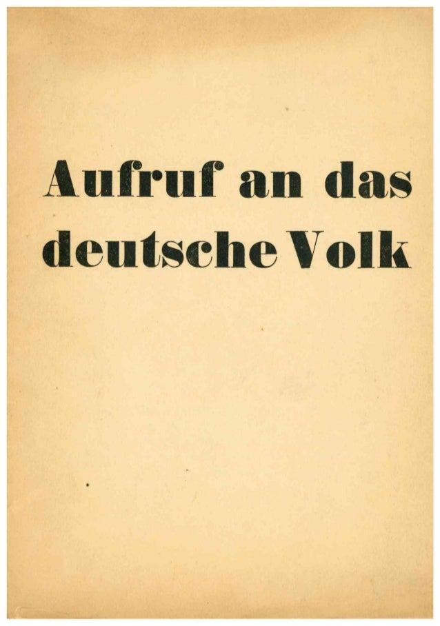 Aufruf an das deutsche volk