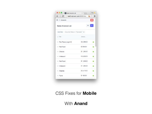 CSS Fixes for Mobile With Anand