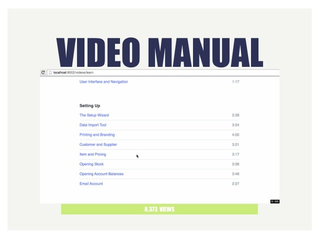 VIDEO MANUAL 8,373 VIEWS
