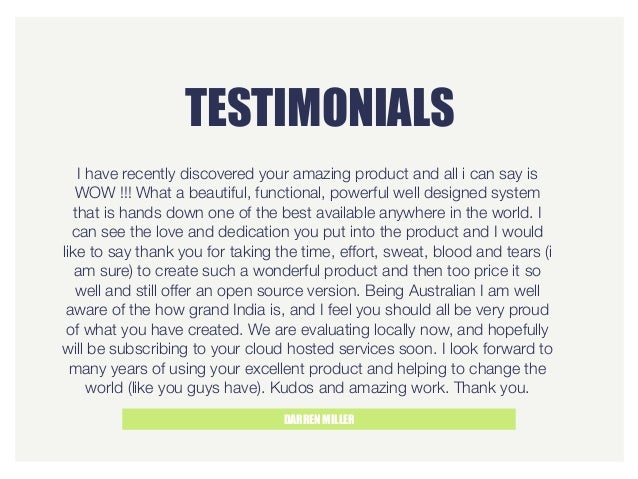 TESTIMONIALS DARREN MILLER I have recently discovered your amazing product and all i can say is WOW !!! What a beautiful, ...