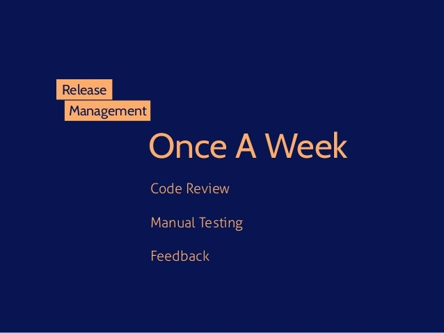 Management Release Once A Week Code Review Manual Testing Feedback