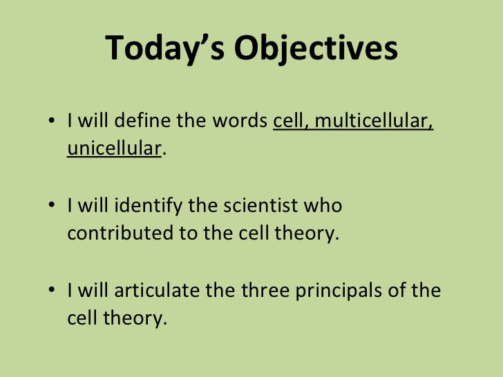 cell theory definition