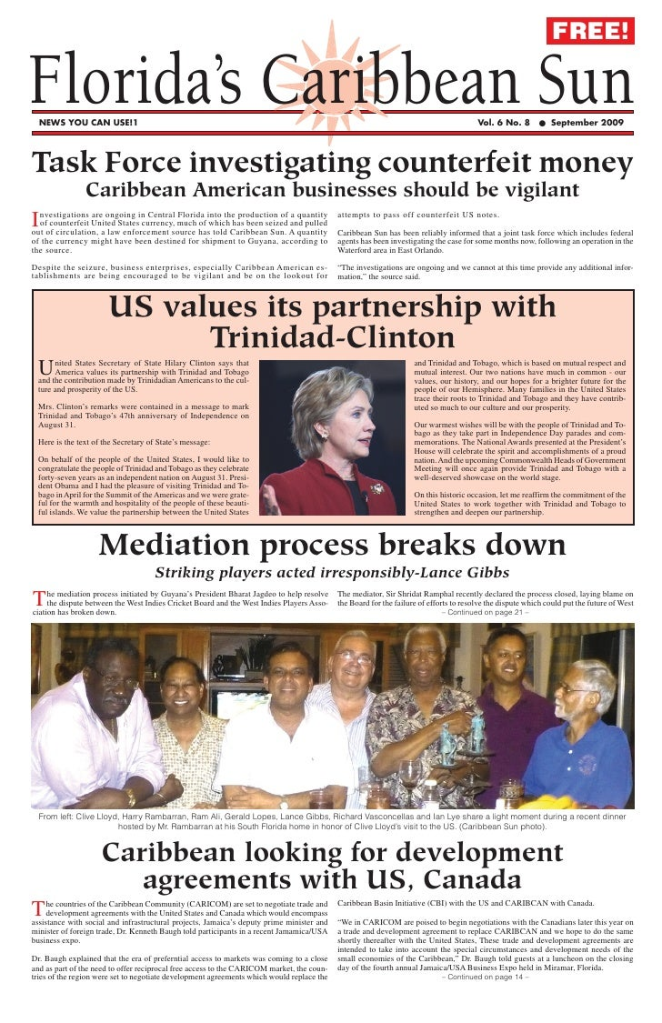 FREE!  Florida's Caribbean Sun   NEWS YOU CAN USE!1                                                                       ...