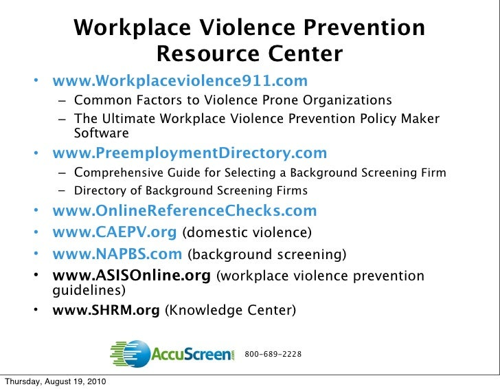 work place violence essay