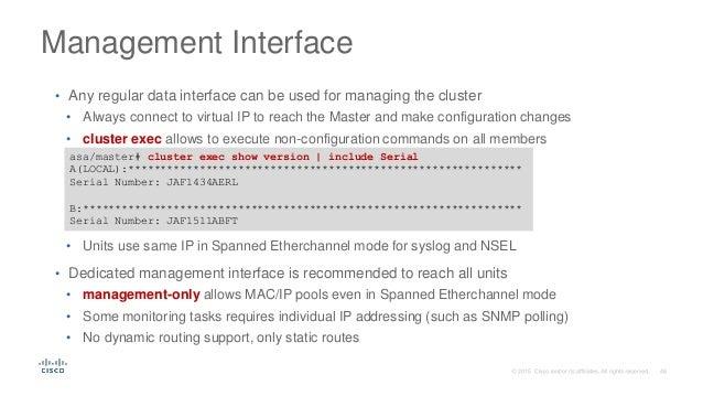 Отказоустойчивость с использованием Cisco ASA Clustering