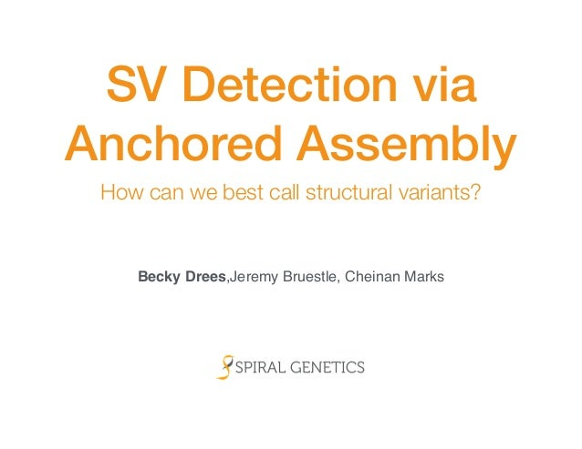 SV Detection via  Anchored Assembly  How can we best call structural variants?  Becky Drees,Jeremy Bruestle, Cheinan Marks