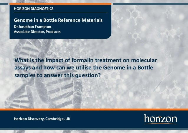 HORIZON DIAGNOSTICS What is the impact of formalin treatment on molecular assays and how can we utilise the Genome in a Bo...