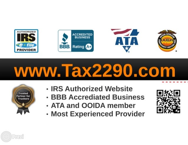 August 31st! Due for 2290 Truck Tax  Slide 2