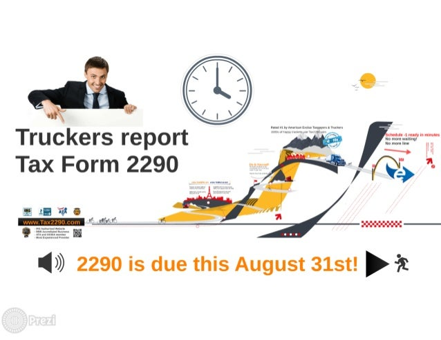 August 31st! Due for 2290 Truck Tax  Slide 3