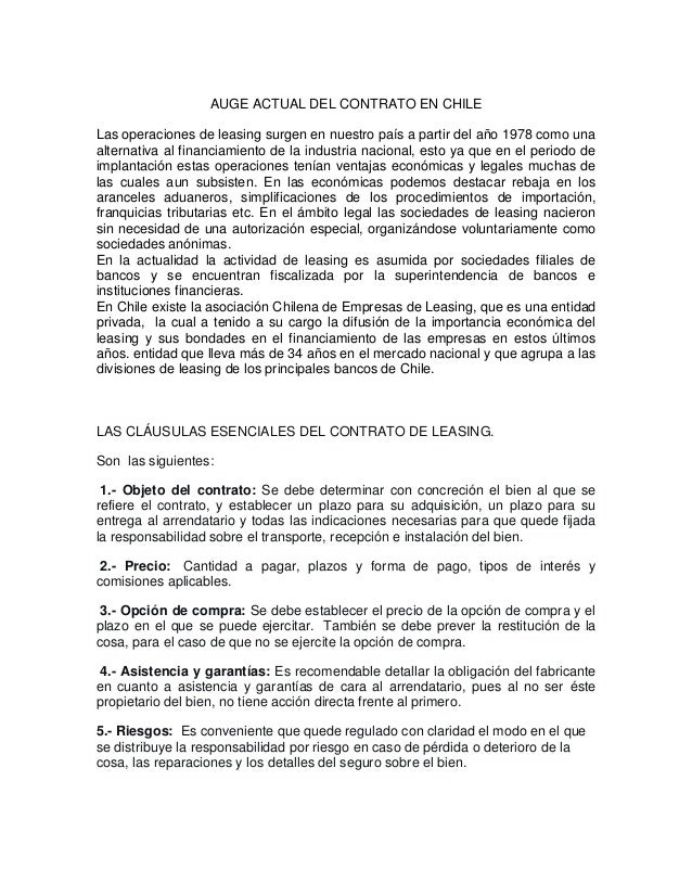 Auge actual del contrato en chile for Acuerdo laboral modelo