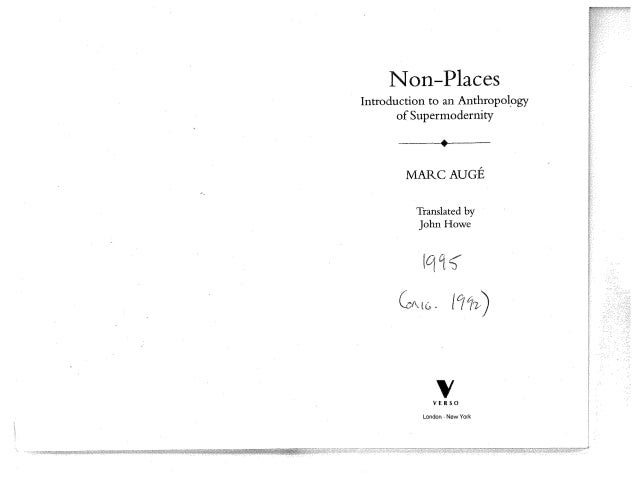 Auge non places ch. from places to non places(1)