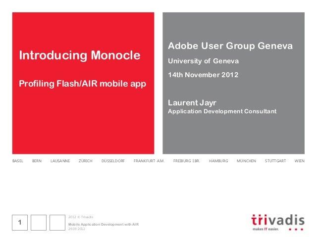 Adobe User Group Geneva  Introducing Monocle                                                      University of Geneva    ...