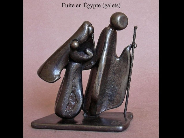 Fuite en Égypte (galets)