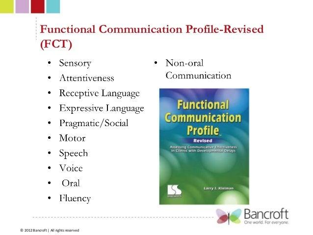 functional communication profile revised pdf