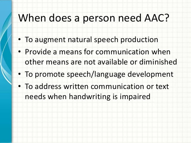 Augmentative and alternative communication