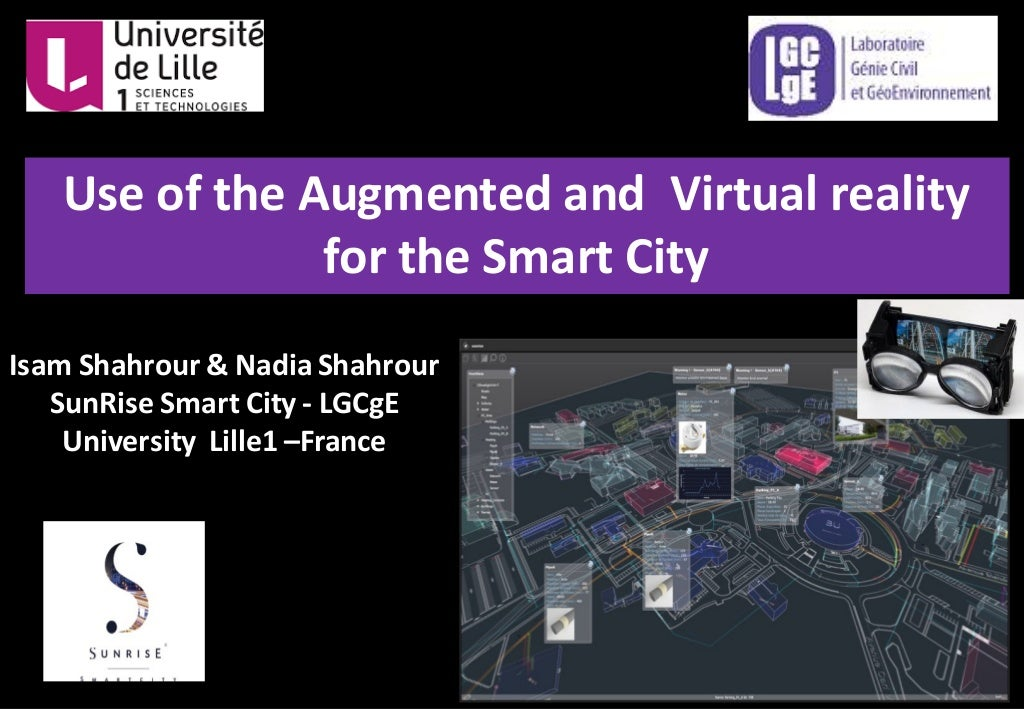 Augmented and virtual Reality for the Smart City