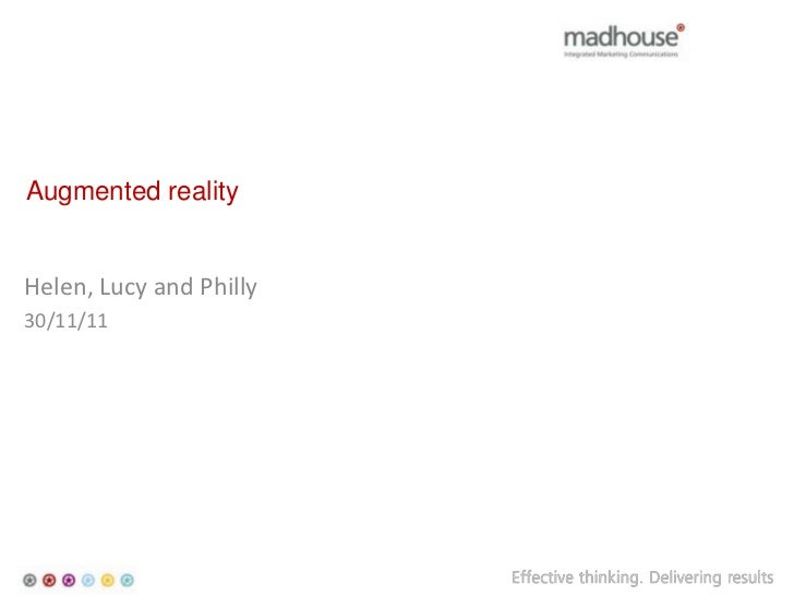 Augmented realityHelen, Lucy and Philly30/11/11